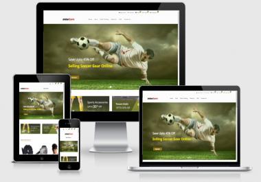 Established Sports eCommerce STORE 200% Profitiable Website Business - Dropship