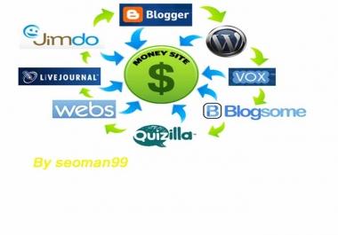 I will create manually linkwheel with 9 HQ PR Blog