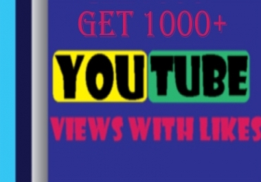 Let you 1500 HR (Lifetime Gurantee) YouTube views with 20 likes