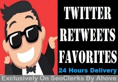 Start Instant 200 Retweets OR 200 Favorites In Your Tweets