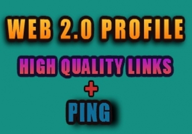 create 200 WEB 20 profile on sites with high page rank + ping to boost your search engine ranking