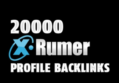 I will create Xrumer Profile Backlinks BLAST 20000 to 100000 Verified ForumProfiles increas