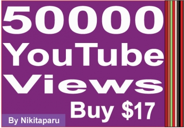 Get fast 50000 Good Retention YouTube Views