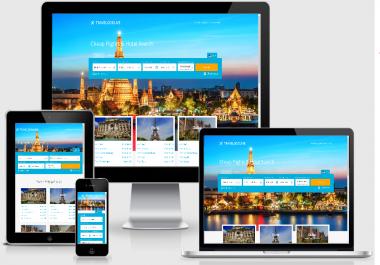 TRAVEL WEBSITE, HOTEL, FLIGHTS, CARS, FREE HOSTING, INSTALL