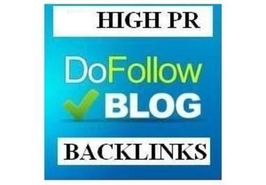Provide 4 PR5+ 10PR4+ 7PR3+ 6PR2 Dofollow and Auto Approve Backlinks