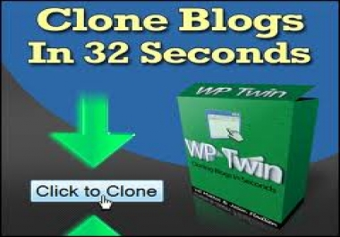 help you to CLONE WP Blog Using WP Twin