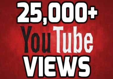 Provide 25,000-26000 Safe YouTube Views few hours