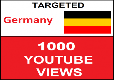 Added 1,000 Germany Geo Targeted youtube video boosting
