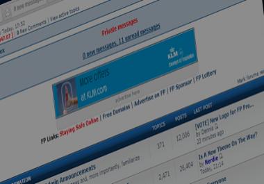 8000 Backlinks on PR5 1,000,000 Post Webmaster Forum