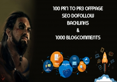 I WILL DO HIGH PA DA 100 PR7 TO PR3 OFFPAGE SEO DOFOLLOW BACKLINKS & 1000 BLOGCOMENTS WITH BACKLINKS FOR YOUR WEBSITE AND KEYWORDS