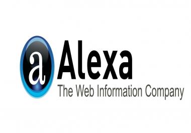 I will improve alexa ranking below USA 25k and global below 250k