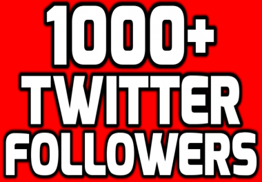 Provide Instantly 1000+ Permanent Twitter Followers Within Few Hours
