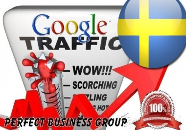 Organic traffic from Google.se (Sverige / Sweden) with your Keyword
