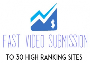 I will make a manual video SUBMISSION for you on over 30 video sharing sites