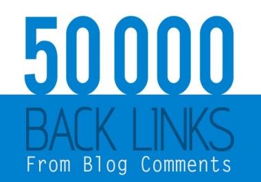 create 50 000 blog comment backlinks from SCRAPEBOX Blast