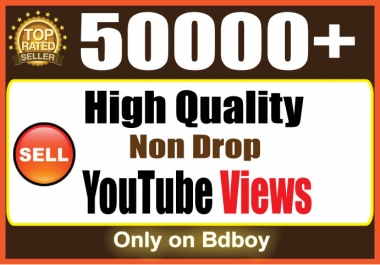 Instant give you real 50,000 You+Tube Views