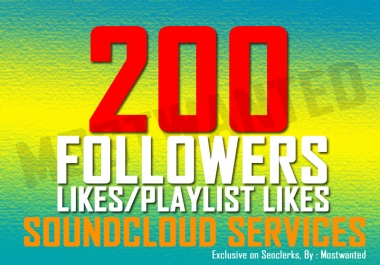 200 SOUNDCLOUD LIKES OR FOLLOWERS for $1