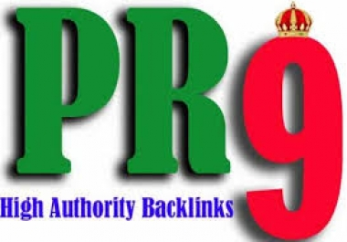 Generate 30 PR9 and PR10 backlinks for your website