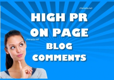 Create 30 PR3 to PR7 actual page backlinks for your website using blog comments
