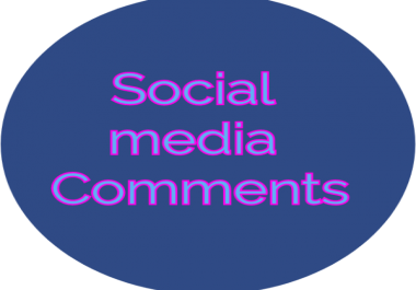 80 Custom or Random comments on your post Instant & Real As you likes Promotions