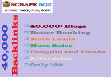 Prepare 40,000 Blog comments backlinks for your website