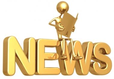 Prepare 20 High PR press release submissions