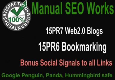 Create Hummingbird safe 15 PR7 Web2 Blogs and 15 PR6 Social Bookmarking