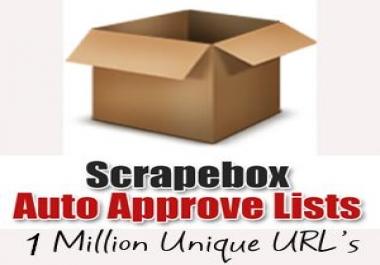 send you my FRESH AA Scrapebox LIST over 1 MILLION links including .edu links