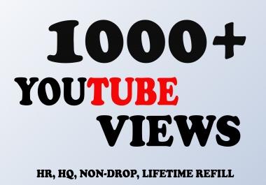 Provide you Non-Drop & Genuine 1000+ Views 30 Likes
