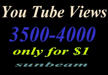 Add you 3000-3500  High Quality Human you_tube vie_ws just