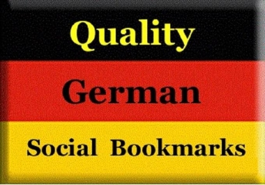 provide 36 German quality backlinks, from german high PR social bookmarking site
