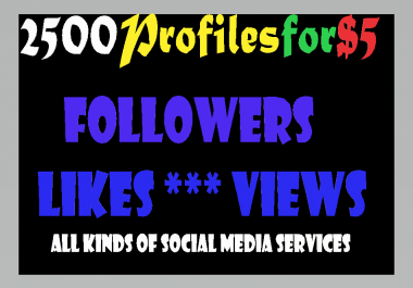 Get Fast 2500 High Quality follower  within 24 hours