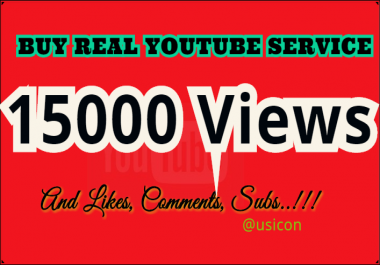Get 15000 YouTube Views, 1000 Likes, 30 Comments and 200 Subscribers