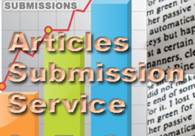 I will provide 20 PR Articles Submission Backlinks
