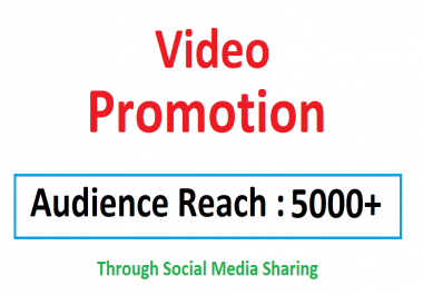 Video Viral Marketing Promotion 5k