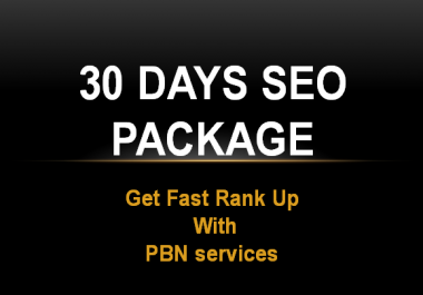 30 Days SEO Link building daily White Hat SEO Package 2019 with PBN web.2.0 backlinks & many more
