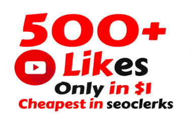 I will Add Super Fast 400-500 Real YouTube Likes