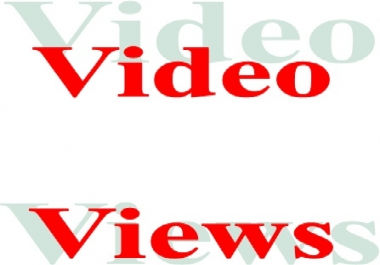 Superfast start 4000++++++ Video Views for Social Media Video Link
