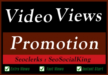 Video Views Seo Promotion and Marketing for Ranking with Extra Like Comments