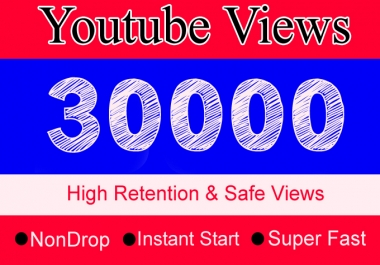 30K YouTube Views with 100 Likes Or 30,000 Or 30000 Youtube Video Views