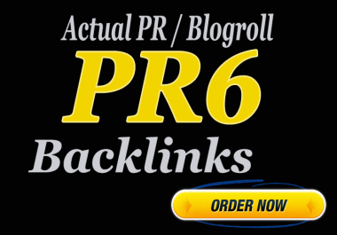 Guranteed 2 X PR6 Homepage Backlinks
