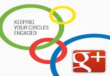 Guaranteed 200+ Real Google +1 Circles, No  bot No disappear All real in