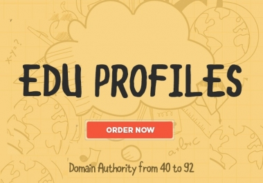 20 EDU Profiles Dofollow BACKLINKS