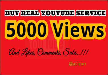 Get 5000 YouTube  Views, 500 Likes, 20 Comments and 100 Subscribers