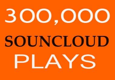 300,000 Soundcloud Play Non Drop split 3 Link To Your Soundcloud Track