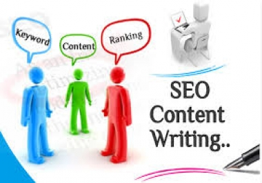 I will write Top Quality  SEO optimized Killer Content For You Up To 500 Words
