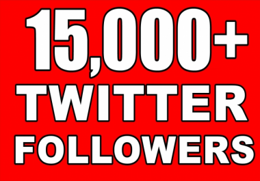 Provide Instant 15000+ Permanent Twitter Followers Within 24 Hours