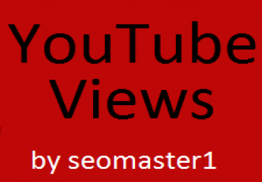 Get 1500-2000 super fast and High Retention non drop guaranteed Youtube views