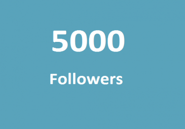 High quality 5000+ TW followers very fast