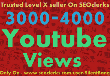 Provide 3000 To 4000 Adsence Safe Non Drop YouTube Views Within 24-36 Hours